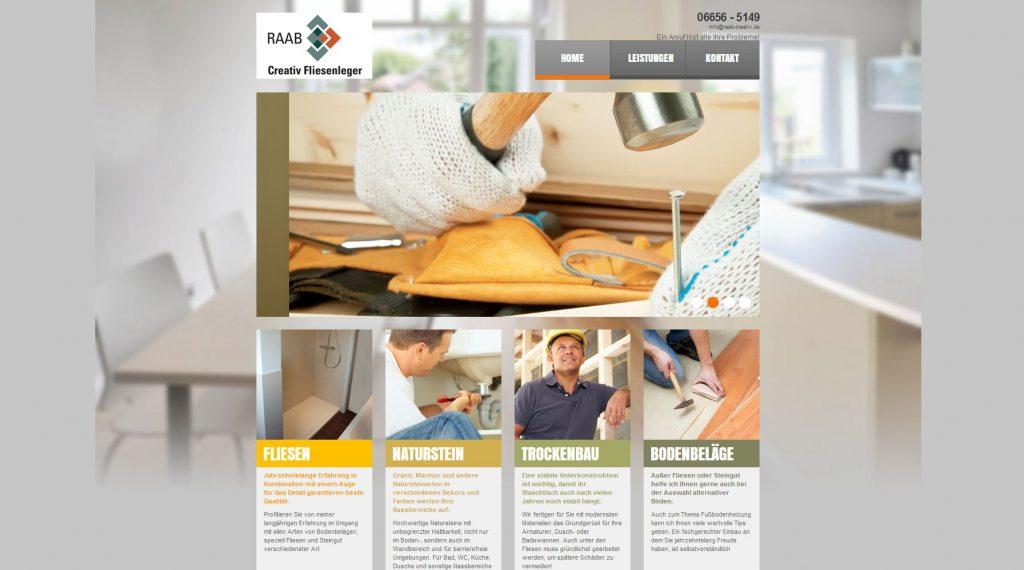 Raab Creativ Webseite Design